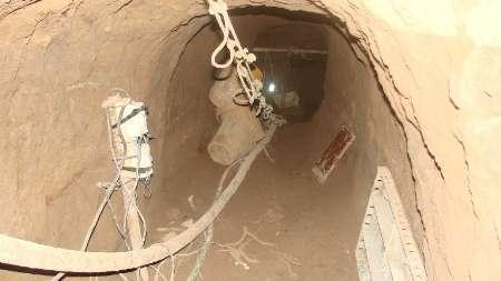 سارقان اشیای تاریخی در تونل 60 متری زمینگیر شدند