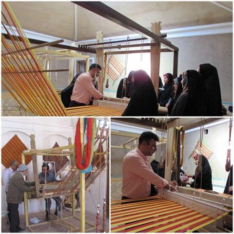 برگزاری دومین دوره آموزشی چادرشب بافی در روستای محمدآباد آران و بیدگل