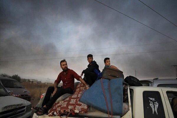 تروریست ها از غیرنظامیان سوری به عنوان سپر انسانی استفاده می نمایند