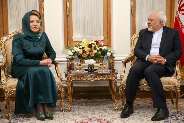 دیدار رییس شورای فدراسیون روسیه با ظریف